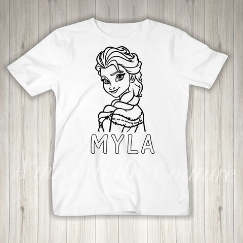 Color Me {Personalized Elsa}