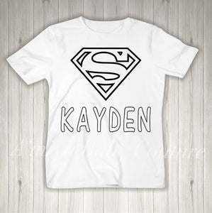 Color Me {Personalized Superman}