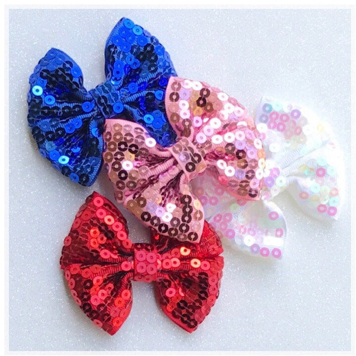 Sequin Pinwheel Bow {Alligator Clip or Nude Nylon Headband}