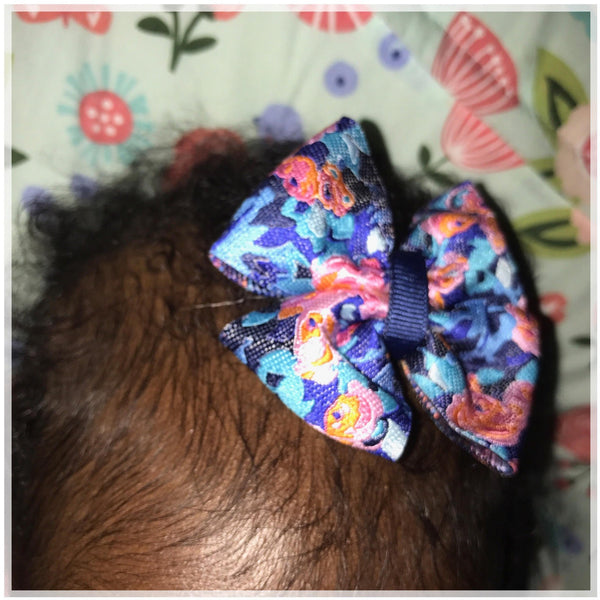 Jacquard- Amy Butler Pinwheel Bow {Alligator Clip or Nude Nylon Headband}