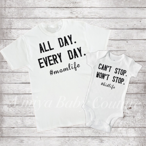 Mommy & Me Set {#momlife/#kidlife}