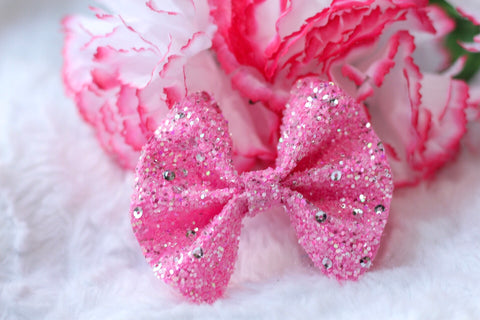 Chunky Glitter Bow {Candy Sparkles} - Available in 2 styles!