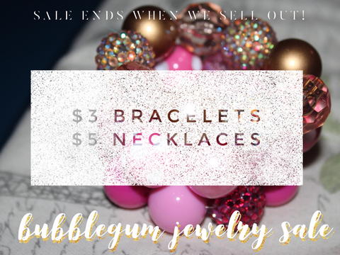 Bubblegum Jewelry Sale {$3 Bracelet | $5 Necklace}