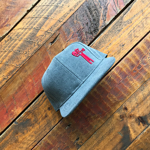 Grey Batchman Cap (red embroidery)