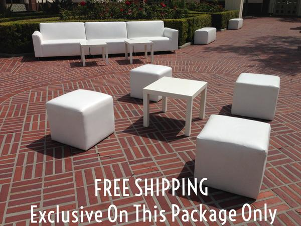 Kids Birthday Party Ottoman Rental Package FREE SHIPPING | Seats 4