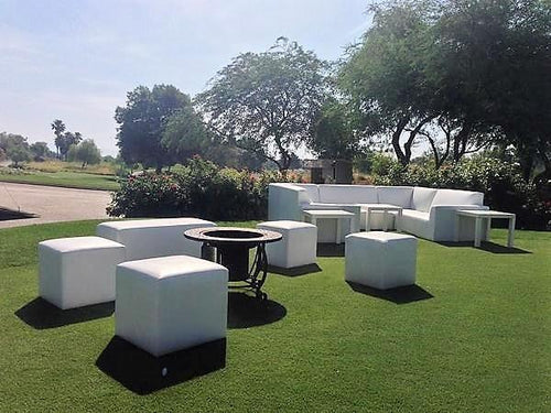 Winery Lounge Rental Sofas and Ottoman Package | Seats 14