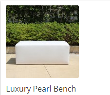 Luxury Pearl Leatherette Rental Bench