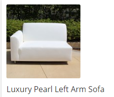 Luxury Pearl Left Arm Leatherette Lounge Sofa