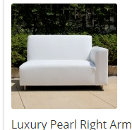 Luxury Pearl Right Arm Leatherette Lounge Sofa