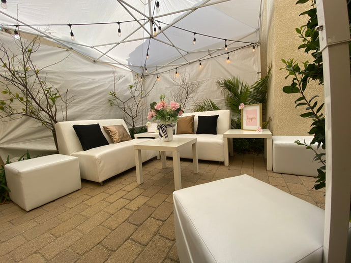 Selfie Lounge Furniture Rental Package | Seats 10 | FREE SHIPPING |