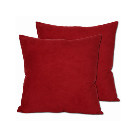 Red Accent Rental Pillow