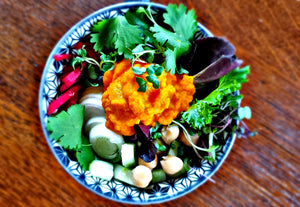 Japanese Carrot & Ginger Dressing with Mixed Microgreens Salad