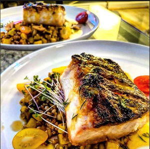Chef-Inspired Fish & Summer Veggie Succotash with Lemon Saffron Sauce