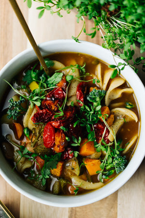 Amy Davisson‎‎_ Micro Fenugreek Minestrone Soup_HamamaRecipes_1.25.20