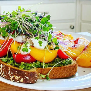 Peachy Pesto Toast