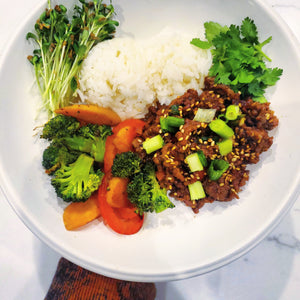 Sesame Ginger Korean Beef with Broccoli