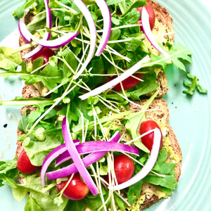 Fresh Microgreen Avocado Toast