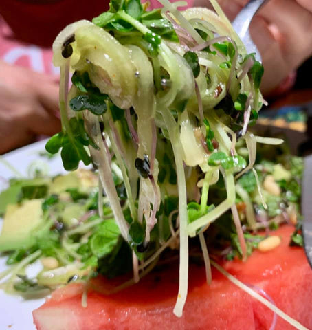 Theresa Ramirez David‎_Cucumber Noodles on Watermelon_HamamaRecipes_9.11.19