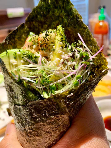 Theresa Ramirez David‎_Refreshing Sunday Cabbage Hand Roll_HamamaRecipes_9.11.19