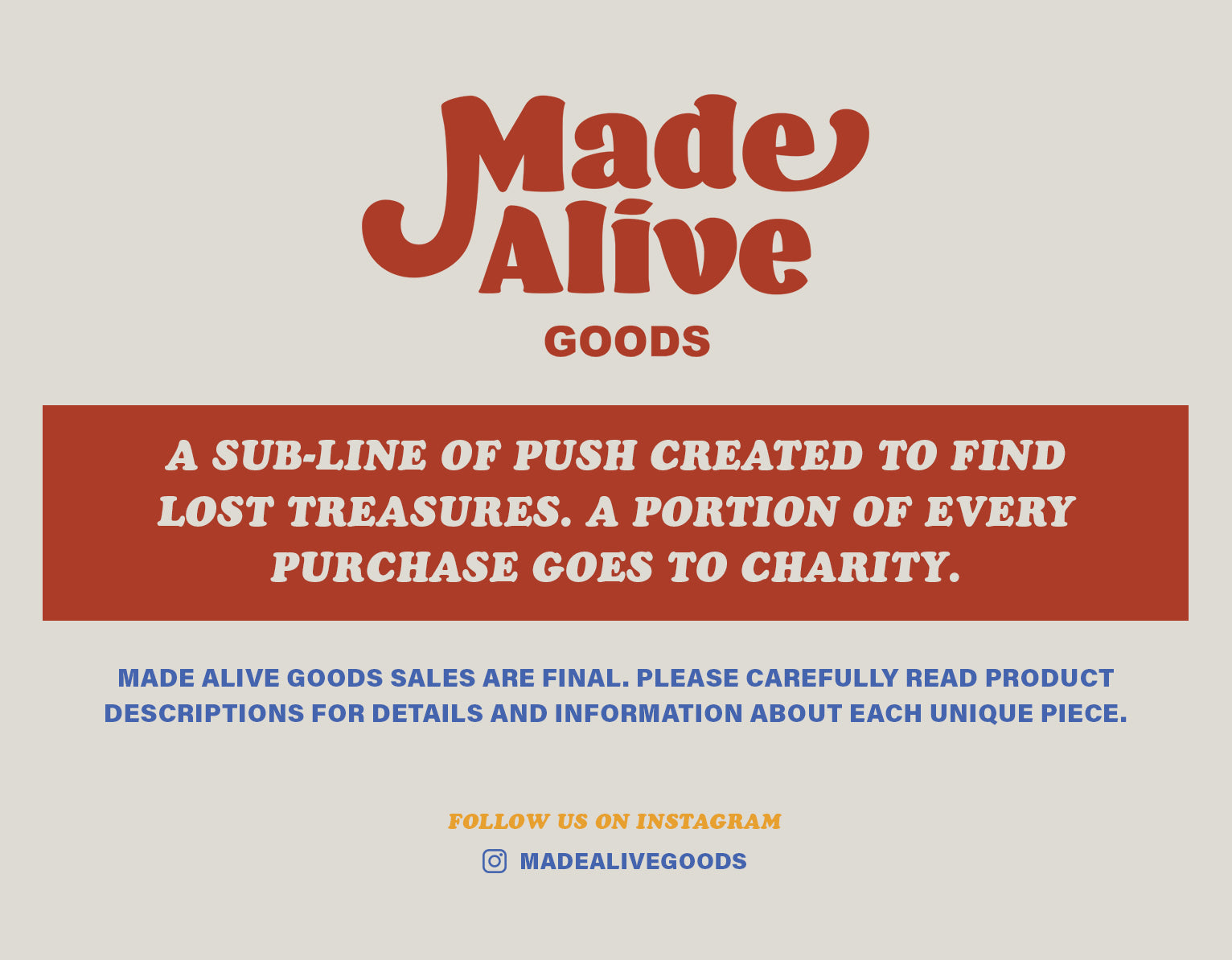 Made Alive - Vintage Shop