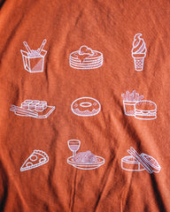 Foodie Icon Shirt - Thai Tea Orange
