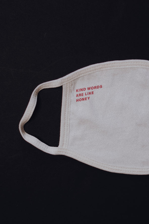 Kind Words are Like Honey Ivory Face Mask (1 Pack)