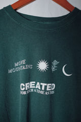 Move Mountains Dusty Teal Unisex Long-Sleeve T-Shirt