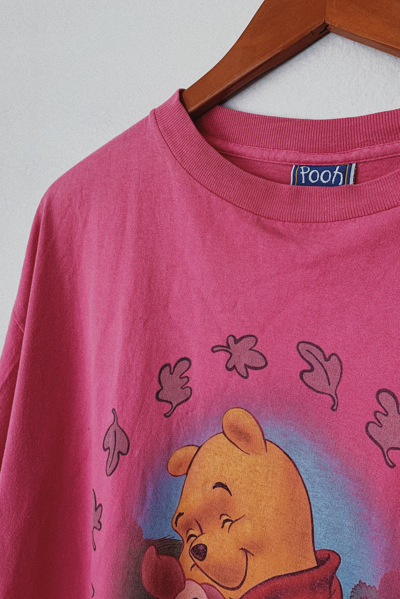 (L) Pooh and Piglet Cropped T-Shirt