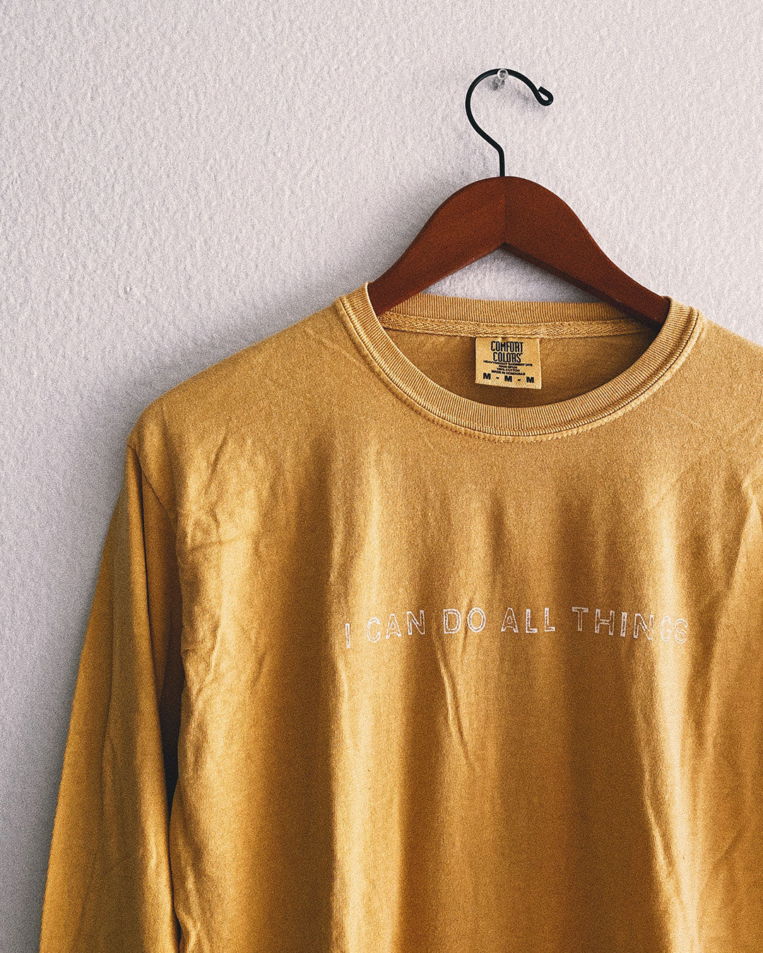 I Can Do All Things Unisex Long-Sleeve T-Shirt - Mustard