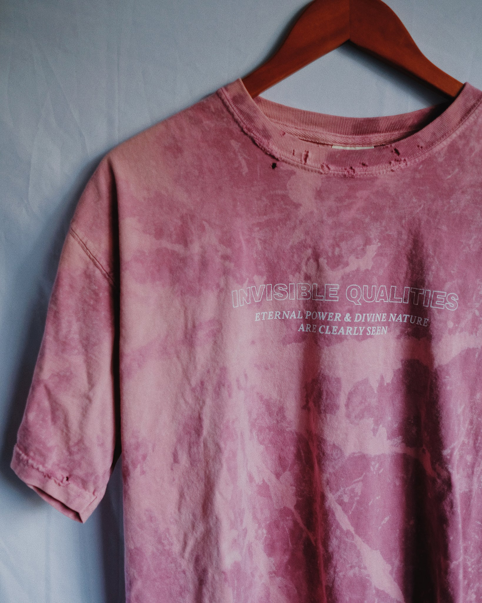 Invisible Qualities Rose Marble Tie-Dye Unisex T-Shirt