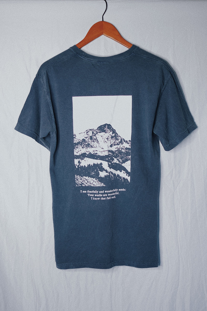 Move Mountains Space Blue Unisex T-Shirt