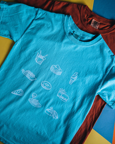 Foodie Icon Shirt - Cotton Candy Blue