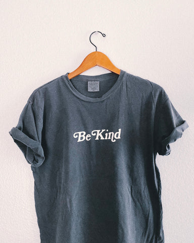 Be Kind Pewter Gray Unisex T-Shirt