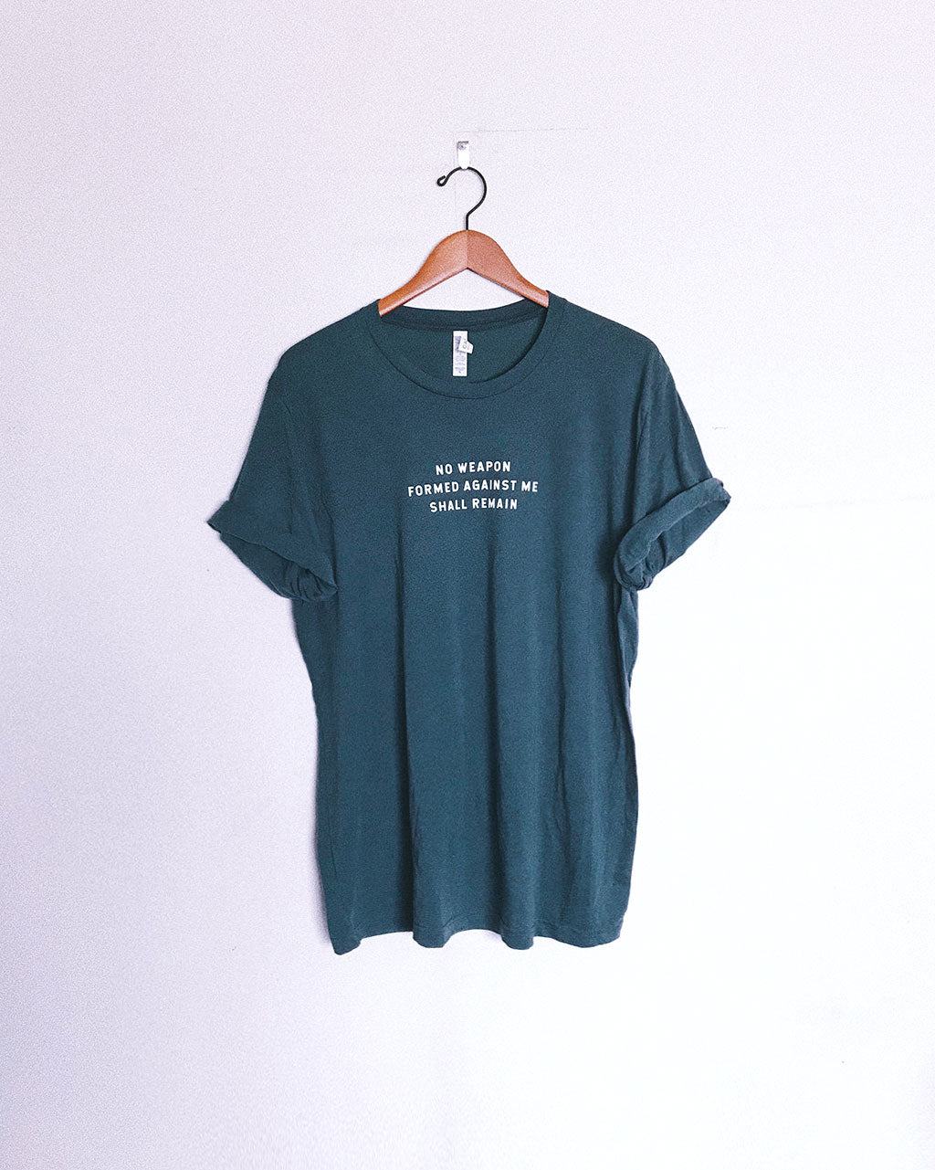 No Weapon Unisex Forest Green T-Shirt