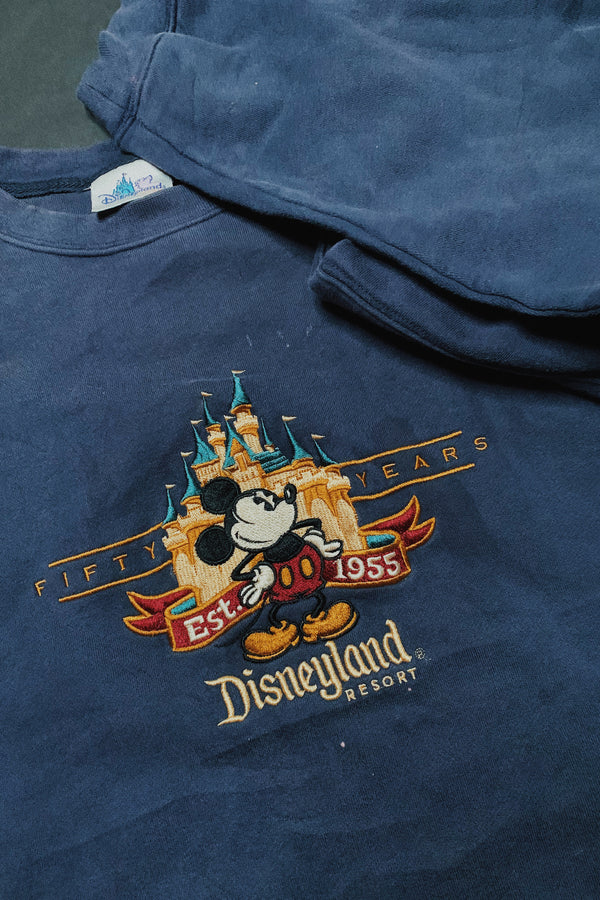 (L/XL) Disneyland 50th Anniversary Embroidered Sweater