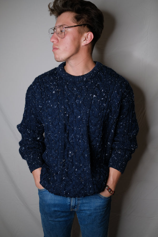 (L) Vintage Speckled Knitted Sweater