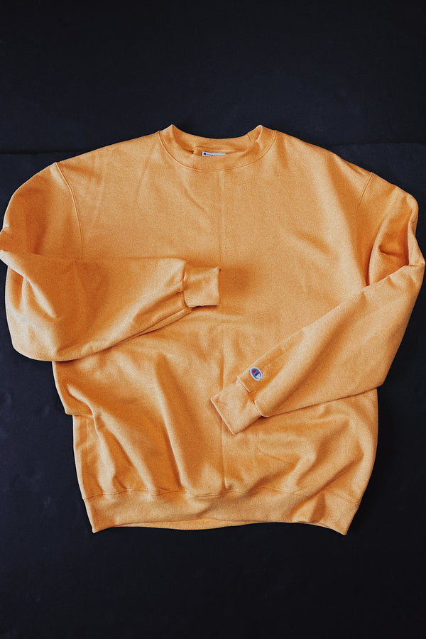 (L) Champion Gold Crewneck Sweater