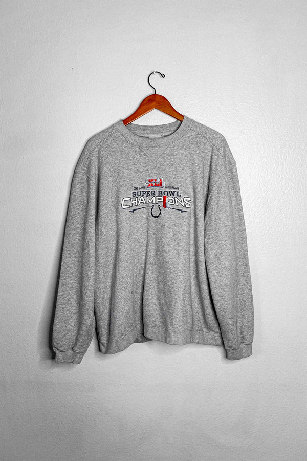 (L) Super Bowl XLI Crewneck Sweater