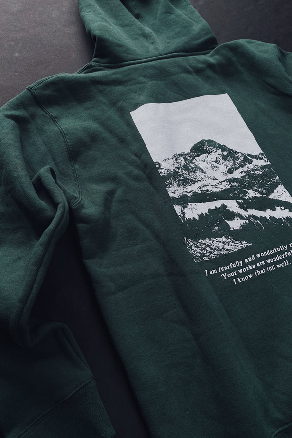 Move Mountains Dusty Teal Unisex Hoodie Sweater