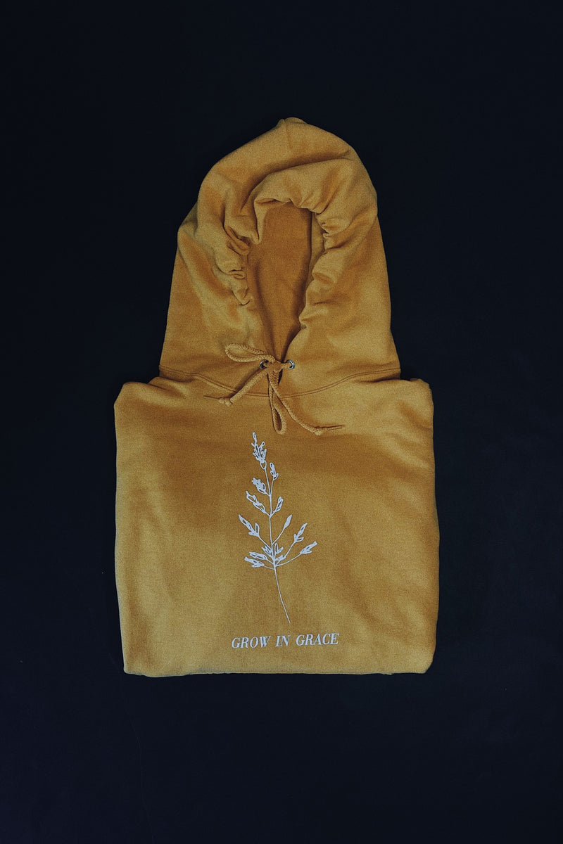 Grow in Grace Honey Yellow Unisex Hoodie Sweater