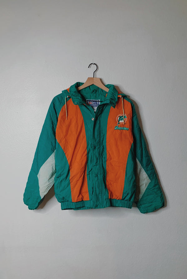 (XL) Vintage Miami Dolphins Embroidered Jacket