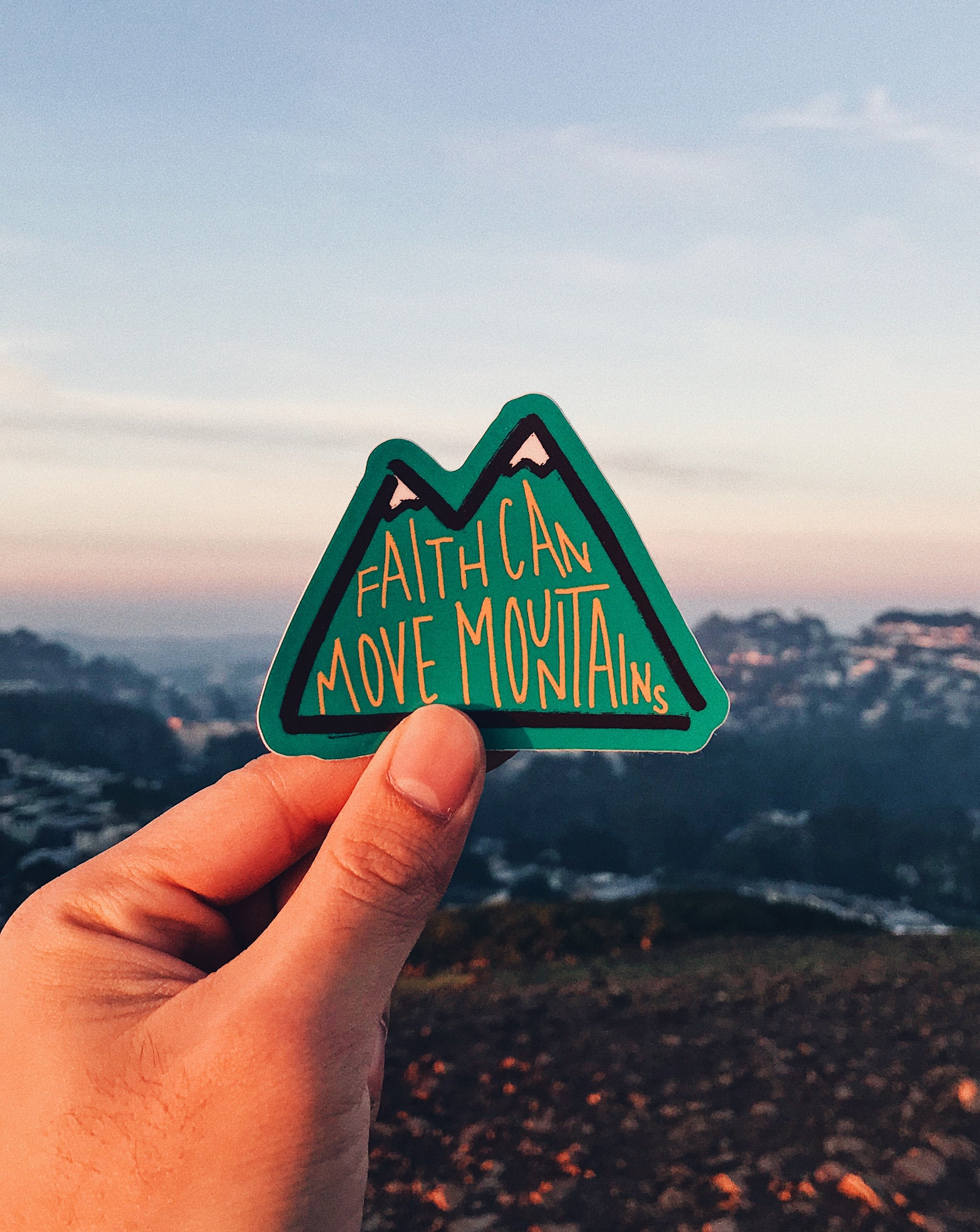 Faith Moves Mountains Sticker