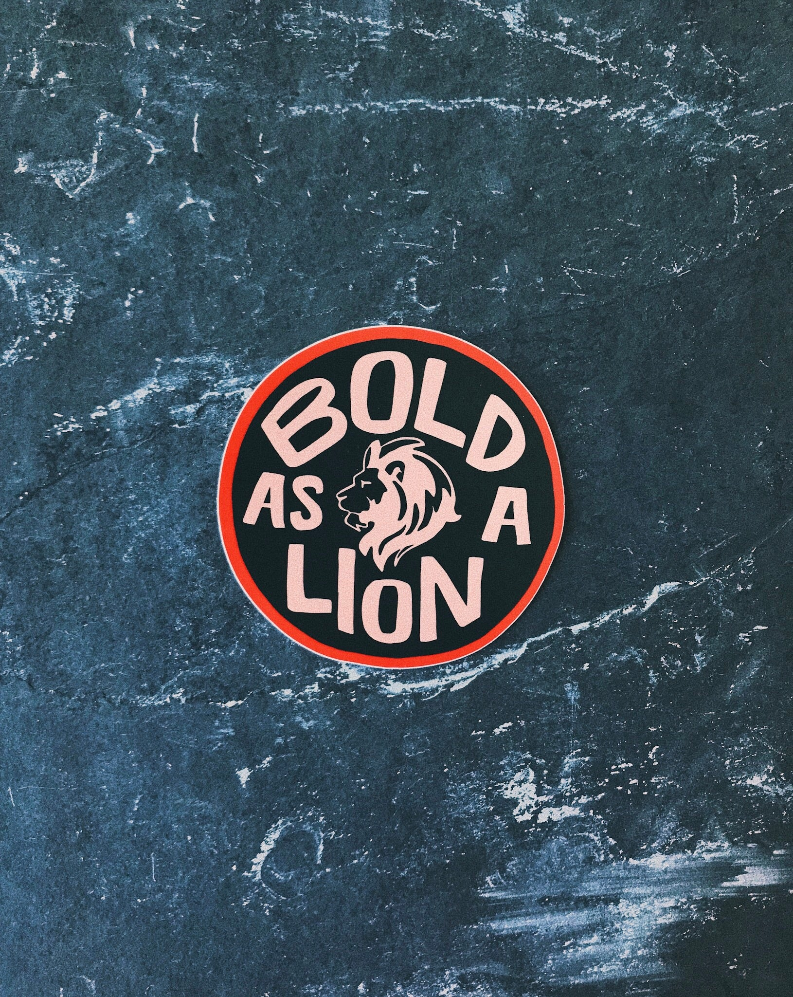 Bold as a Lion Sticker