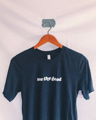 See the Good Unisex Navy Blue T-Shirt