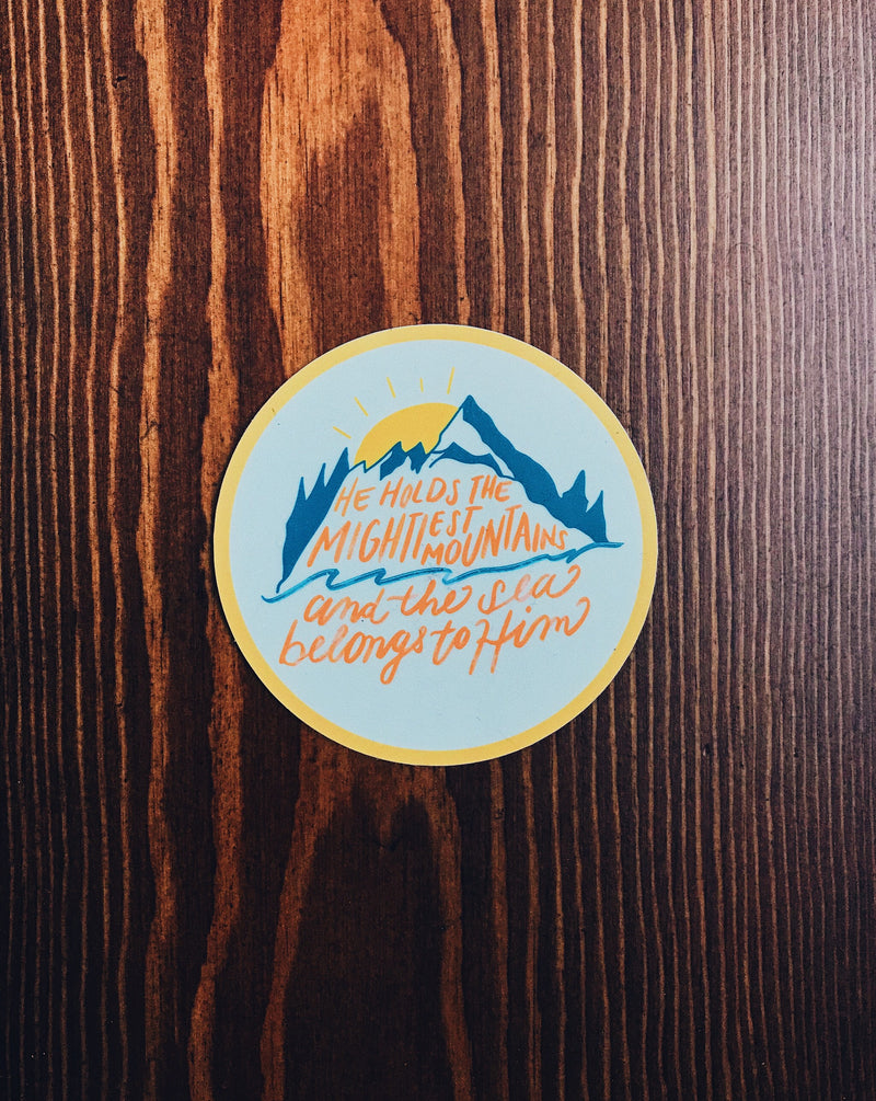 Mightiest Mountains Sticker