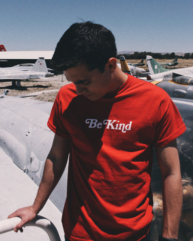 Be Kind Crimson Red Unisex T-Shirt