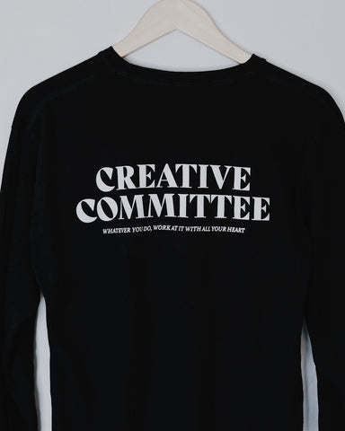 Creative Committee Black Unisex Long-Sleeve T-Shirt
