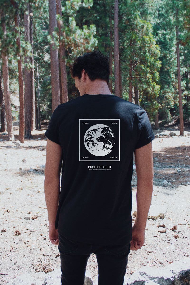 "Ends of the Earth ""California"" Black Unisex T-Shirt"