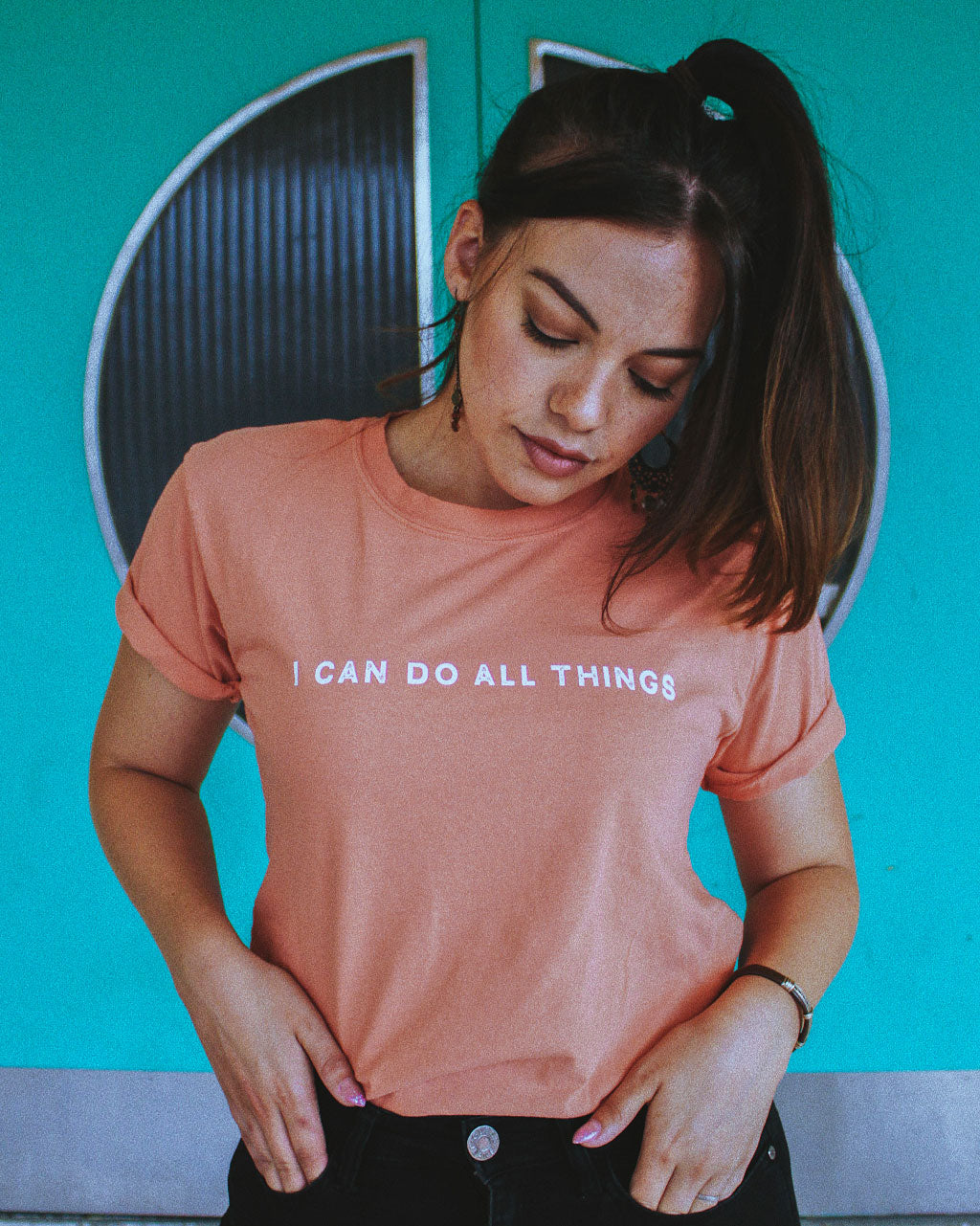 i can do all things coral unisex t-shirt