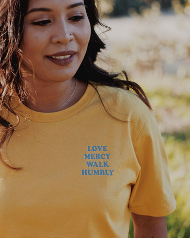 Love Mercy Walk Humbly Unisex T-Shirt